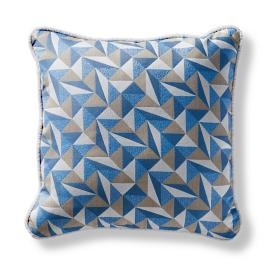 Origami Tile Denim Square Pillow