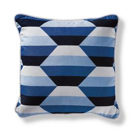 Shaded Prism Cobalt Square Pillow