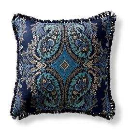 Tavaux Paisley Midnight Square Pillow