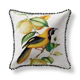 Handpainted Jamaican Oriole Indoor/Outdoor Pillow from the New
