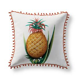 Handpainted Pineapple Outdoor Pillow from the New York