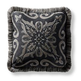 Amarante Indoor/Outdoor Pillow - Charcoal