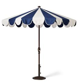 Gianna Designer Umbrella in Indigo