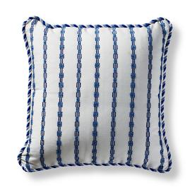 Morse Stripe Cobalt Square Pillow