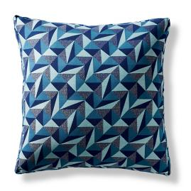 Origami Tile Peacock Boxed Pillow