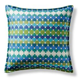 Color Remix Cobalt Flanged Outdoor Pillow