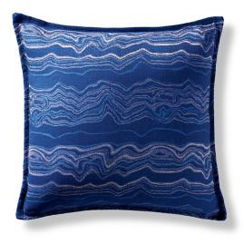 Kantanga Marble Cobalt Flanged Outdoor Pillow