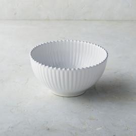 Costa Nova Pearl Salad Serving Bowl in White