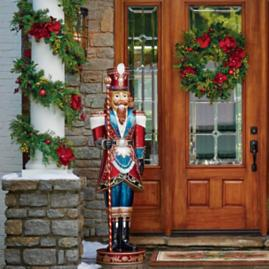 "72"" LED Royal Guard with Candy Cane Staff"