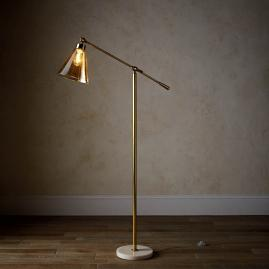Tory Amber Glass Floor Lamp