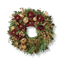 "Grand Regency Cordless 32"" Indoor Wreath"