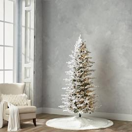 Flocked Stafford Pine 7-1/2' Slim Profile Tree