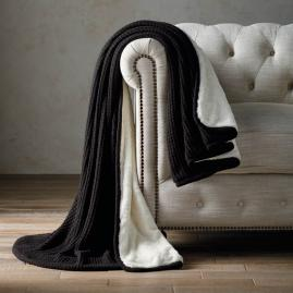 Knitted Fur Throw