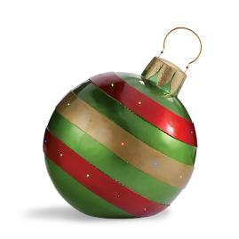 Fiber Optic LED Multi-stripe Ornament