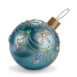"29"" Fiber Optic LED Ornament with Snowflakes"