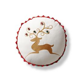 Reindeer Crossing Decorative Pillow