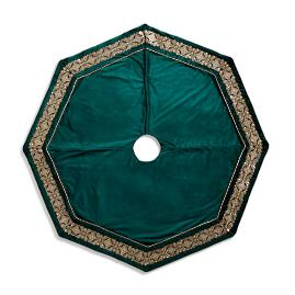 "Christmas Velvet 72"" Octagon Tree Skirt"