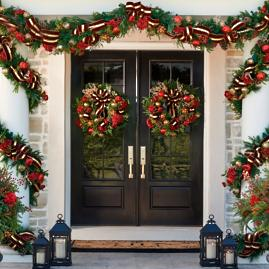 "Grand Regency Cordless 32"" Outdoor Wreath"