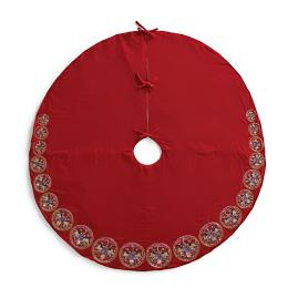Multi-Circle Jeweled Velvet Tree Skirt