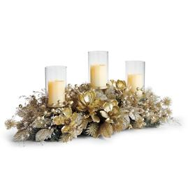 "Gilded Elegance 43"" Trio Candle Holder"