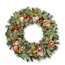 mark roberts lighted festive mantel wreath