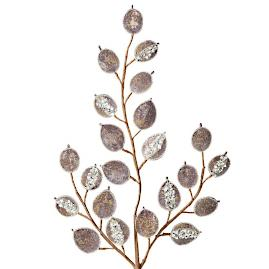 Beaded Sequin Lunaria Stems, Set of 12