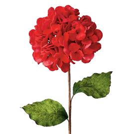 Red Velvet Hydrangea Stems, Set of 12