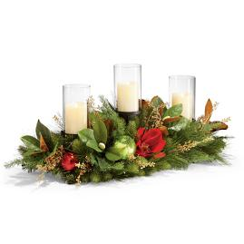 Christmas Tidings 3 Candle Holder