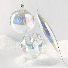 Iridescent Clear Ornaments