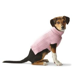 Double Cable Cashmere Dog Sweater