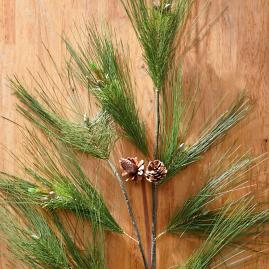Needle Pine Sprays, Set of Four