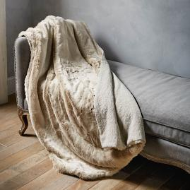 Fashion Faux Fur Matelassé Throw