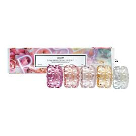 Voluspa Rose Cloche Candles, Gift Set of Five