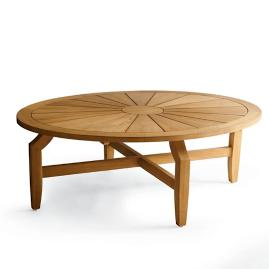 Horizon Oval Teak Coffee Table
