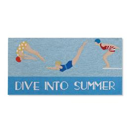 Dive Into Summer Door Mat
