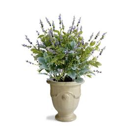 "Lavender and Mixed Foliage 32"" Potted Plant"