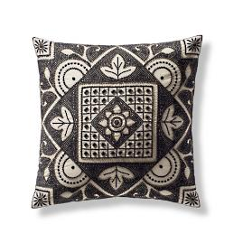 Beaded Geo Medallion Decorative Pillow Cover