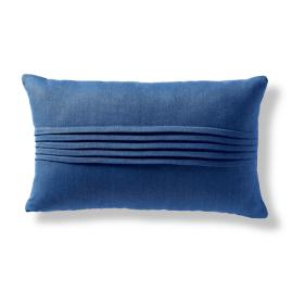 Pin Tuck Linen Lumbar Decorative Pillow Cover