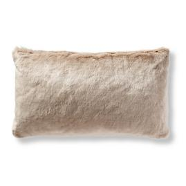 Fashion Faux Fur Matelassé Lumbar Pillow Cover