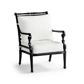 Small Carlisle Lounge Chair with Cushions in Onyx