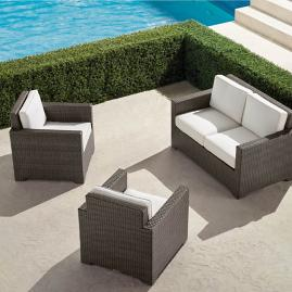 Small Palermo 3-pc. Loveseat Set in Bronze Finish