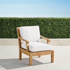 Small Cassara Lounge Chair with Cushions in Natural