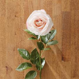 Faux White and Pink Rose Stems, Set of