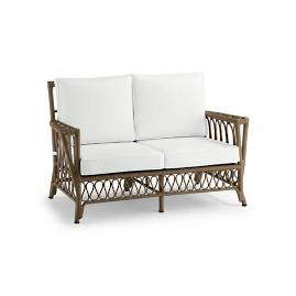 Myla Loveseat with Cushions in Umber Finish