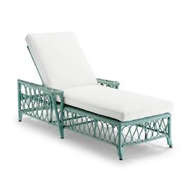 Myla Chaise with Cushions in Sage Finish