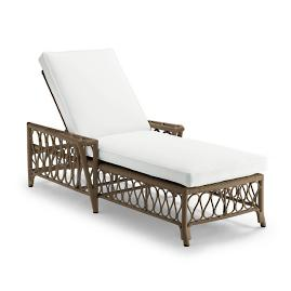 Myla Chaise with Cushions in Umber Finish