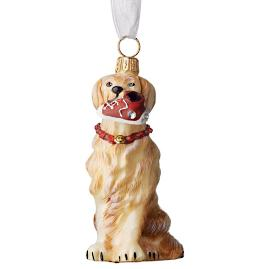 Golden Retriever with High-top Sneaker Collectible Dog Ornament