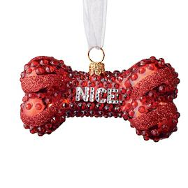 Naughty or Nice Dog Bone Collectible Ornament