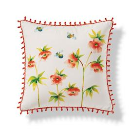Handpainted Wildflowers Indoor/Outdoor Pillow