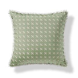 Lasercut Lines Indoor/Outdoor Pillow - Celadon